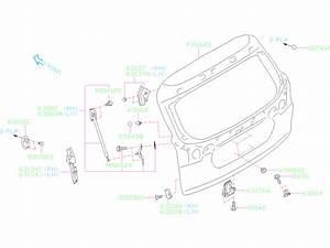 2019 Subaru Ascent Hatch Lift Support  Right