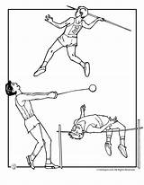 Track Field Coloring Pages Olympic Olympics Template Special Summer Jr Activities Templates Popular sketch template