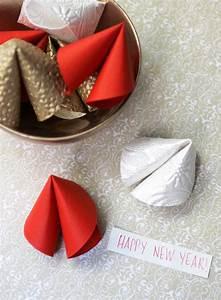 new year diy paper fortune cookies evite