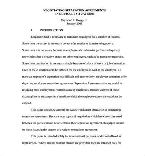 sample severance agreements sample templates