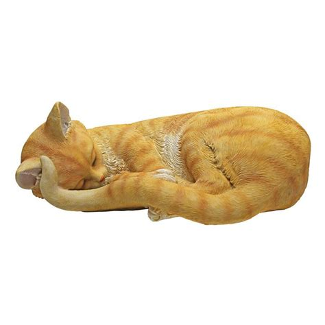 cat nap sleeping kitten statue qm design toscano