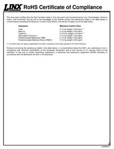 Rohs compliance certificate template for Rohs certificate of compliance template