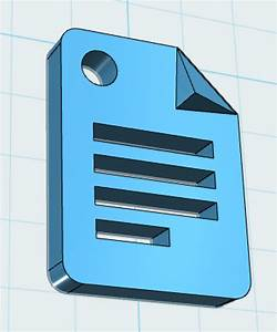 Maker Club  Google Docs Icon 3d Modeled And Printed