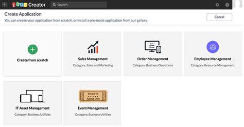 Creator Application by Start Guide Help Zoho Creator