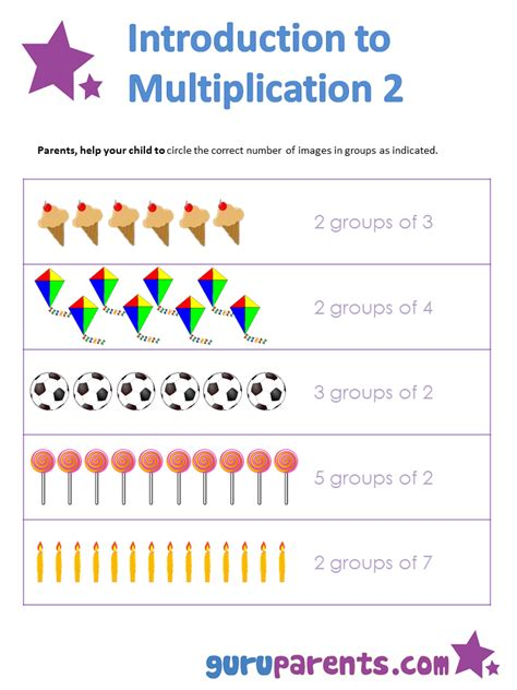 concept of multiplication worksheets for grade 1 introduction to multiplication guruparents