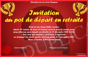 invitation pot depart retraite pin carte de depart travaille on