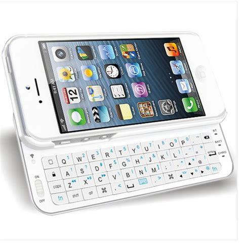 cool white sliding bluetooth wireless keyboard cover