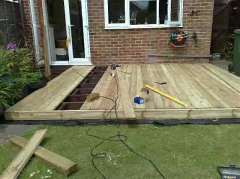 building garden decking part  youtube