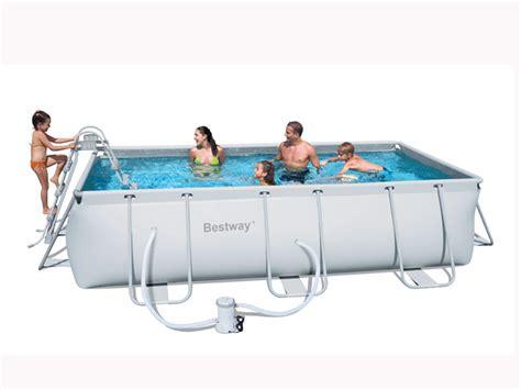 piscine tubulaire rectangulaire 4 04 x 2 01 x 1m 55162