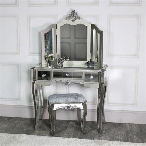 ornate mirrored  drawer dressing table stool flora