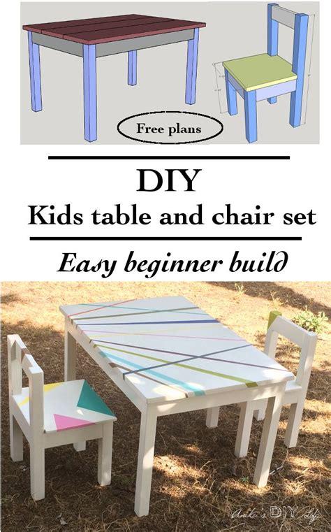 easy diy kids table  chair set   plans anika