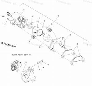 Polaris Atv 2010 Oem Parts Diagram For Brakes  Rear