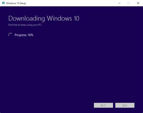 how to resume a failed windows 10 installation media creation