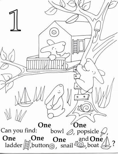 Seek Coloring Pages Preschool Sheets Numbers Hidden