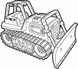 Coloring Pages Bulldozer Dozer Printable Working Sun Getcolorings Christmas Simple Sheets Truck Construction sketch template