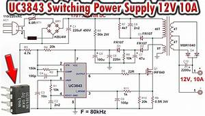 Uc3843 Switching Power Supply 12v  10a
