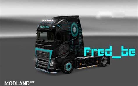 volvo truck tech volvo fh2012 hi tech skin mod for ets 2