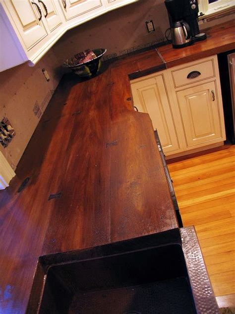 wood look countertops concrete countertop cast on a wood plank mold and