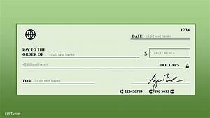 Free Blank Check Template For Powerpoint