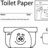 Toilet Paper Coloring Sheet Sign Language Lesson Worksheets Plan Asl Sheets Activity Teaching Print sketch template