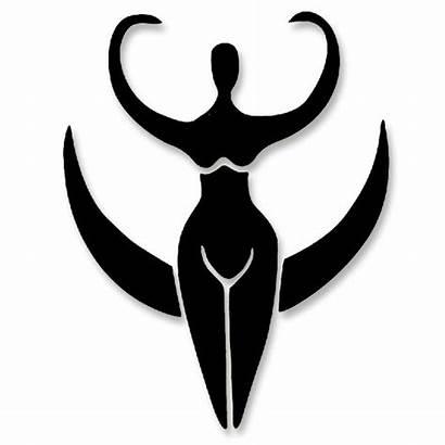 Goddess Moon Pagan Triple Symbol Symbols Cutout