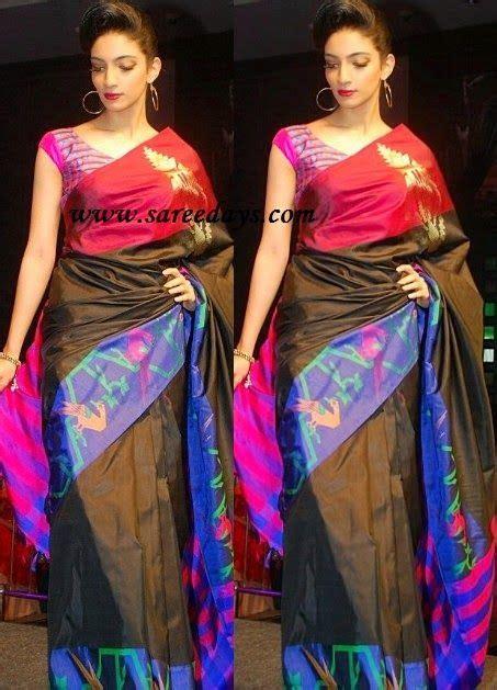saree designs black uppada saree sarees blouses and churidars saree saree dress