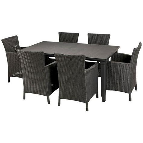 buy keter iowa rattan effect 6 str dining set graphite