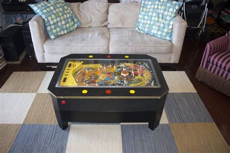 Handmade Pinball Coffee Table By Woodenitbenice
