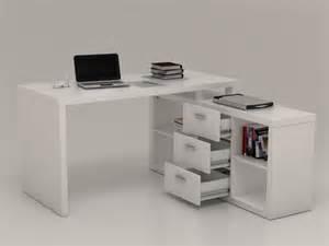 Bureau Angle Blanc Pas Cher by Bureau D Angle Avec Rangements Aldric Blanc Bureau Vente