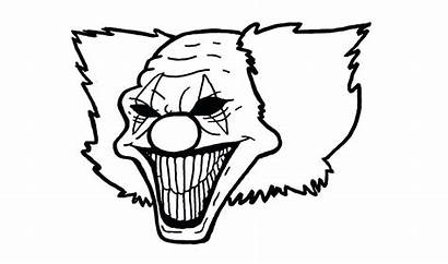 Coloring Pages Evil Clown Scary Printable Getcolorings