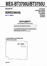 Wiring Diagram Sony Mex Bt3700u