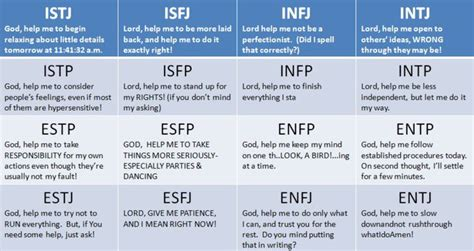 "Myers-briggs ""prayers"""