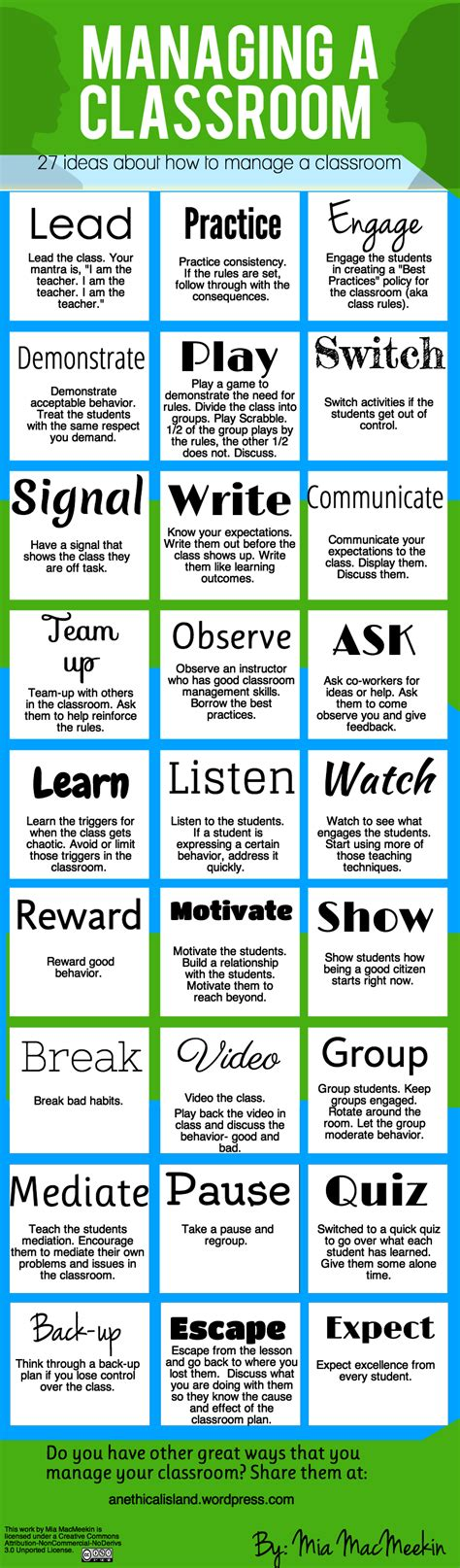 tips  effective classroom management infographic