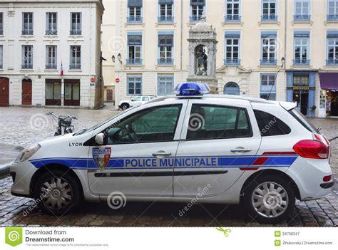 Municipal Police Car In Lyon, France Editorial Photography