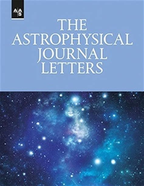 astrophysical journal letters publishing american astronomical society 24572