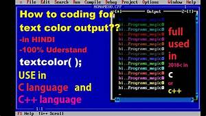 C How To : how to change output text color in turbo c c both ~ A.2002-acura-tl-radio.info Haus und Dekorationen