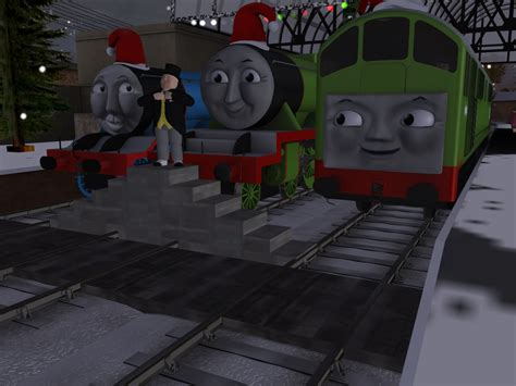 christmas at tidmouth by skarloeyrailway on deviantart