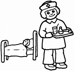 School Nurse Coloring Pages Coloring Home