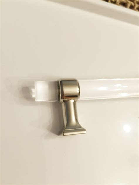 modern cabinet hardware lucite and chrome modern cabinet pull knob chic moderne