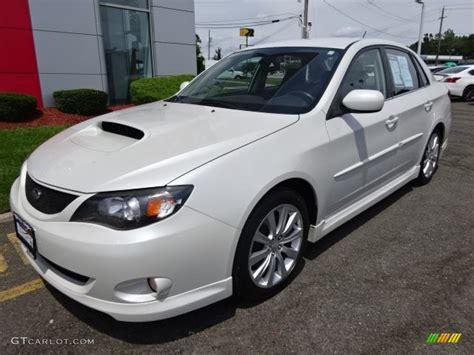 white subaru wrx 2008 satin white pearl subaru impreza wrx sedan 106151105