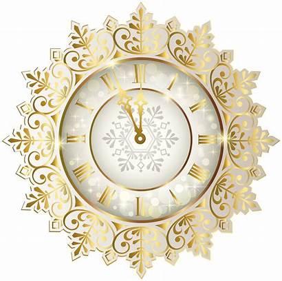 Clock Clip Clipart Transparent Eve Novo Ano
