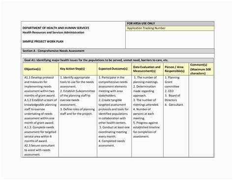 Project Management Work Package Template Sle Project Management Plan Get Project Work Plan