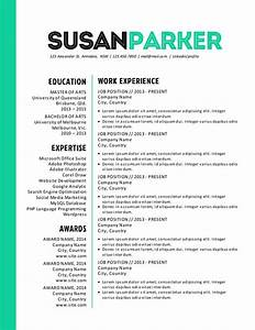 bold green modern resume template modern modern resume With bold resume template