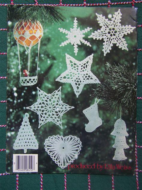 free thread crochet christmas ornament patterns usa free s h thread crochet patterns tree topper 8 ornaments 8 snowflakes