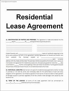 rent lease templates hospinoiseworksco With housing lease template