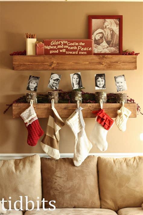 stocking holders  logs   cute