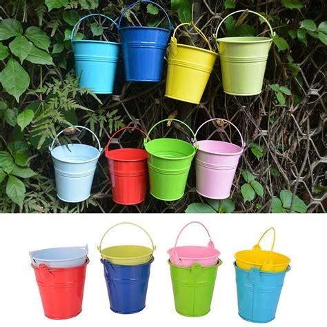 5pcs lot fashion colorful macetas vertical garden planters metal flower pots hang hanging