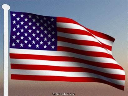 Flag Waving American Animated States United Wave