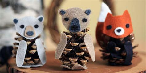 felt pinecone bear diy projects  kids