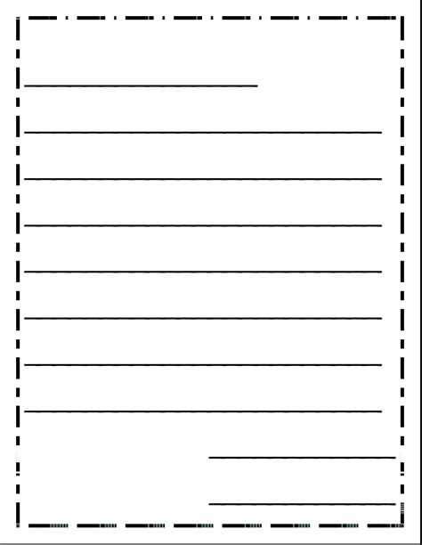 Letter Writing Paper  Formal Letter Template